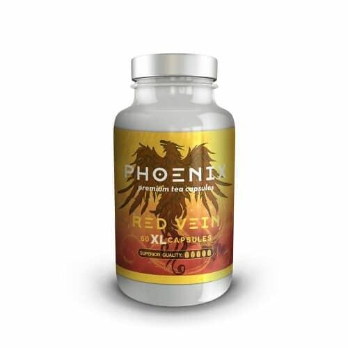 Phoenix Kratom Red Vein Capsules 1 gram 60 CT bottle front