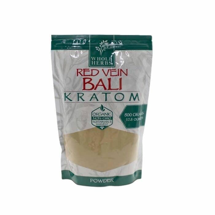 Whole Herbs Red Vein Bali Powder 500 gram bag by My Kratom Club