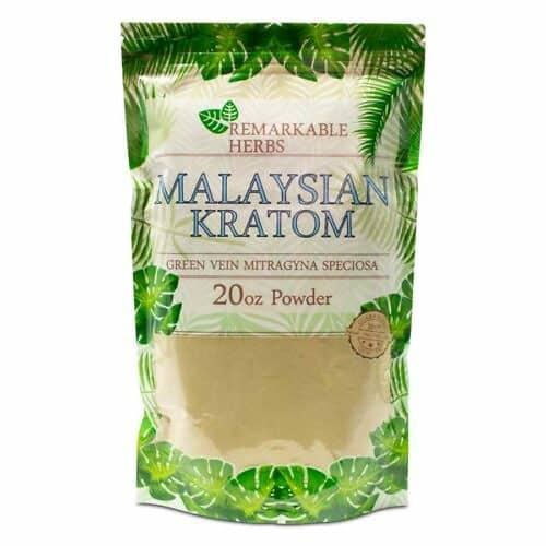 Remarkable Herbs Malaysian Kratom Powder 20 oz
